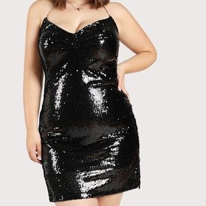 Plus Size Ginger Sequined Halter Dress